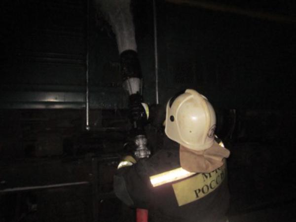 ВТульской области зажегся следовавший вЕлец грузовой поезд