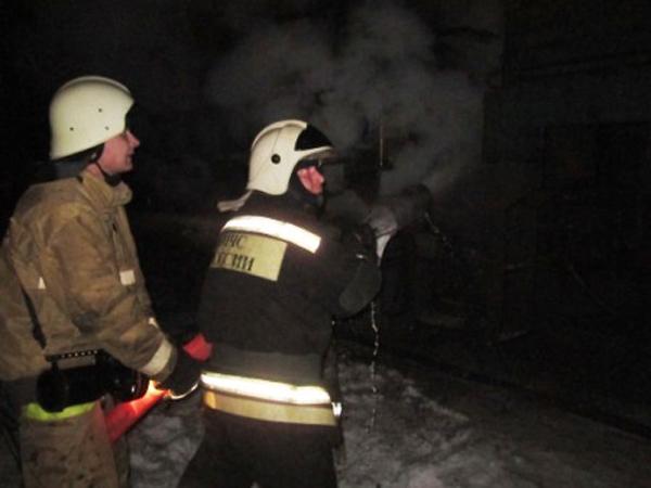 Ночью вТульской области горел локомотив