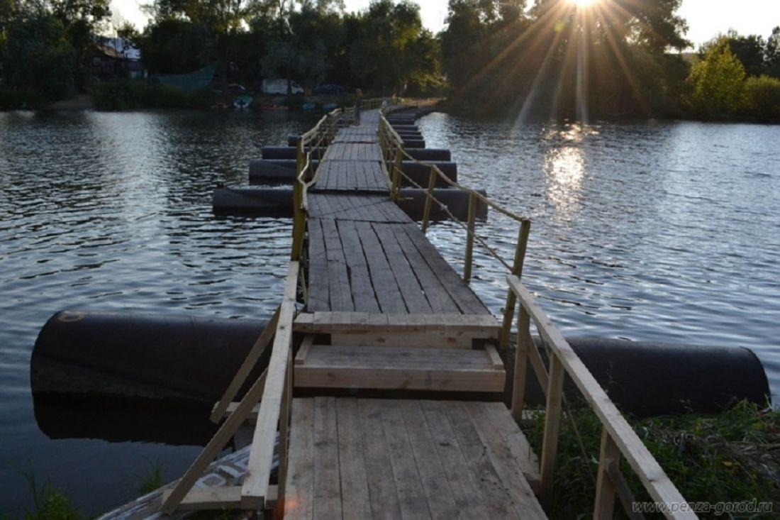 Ремонт понтонного моста вПензе начнется с26сентября