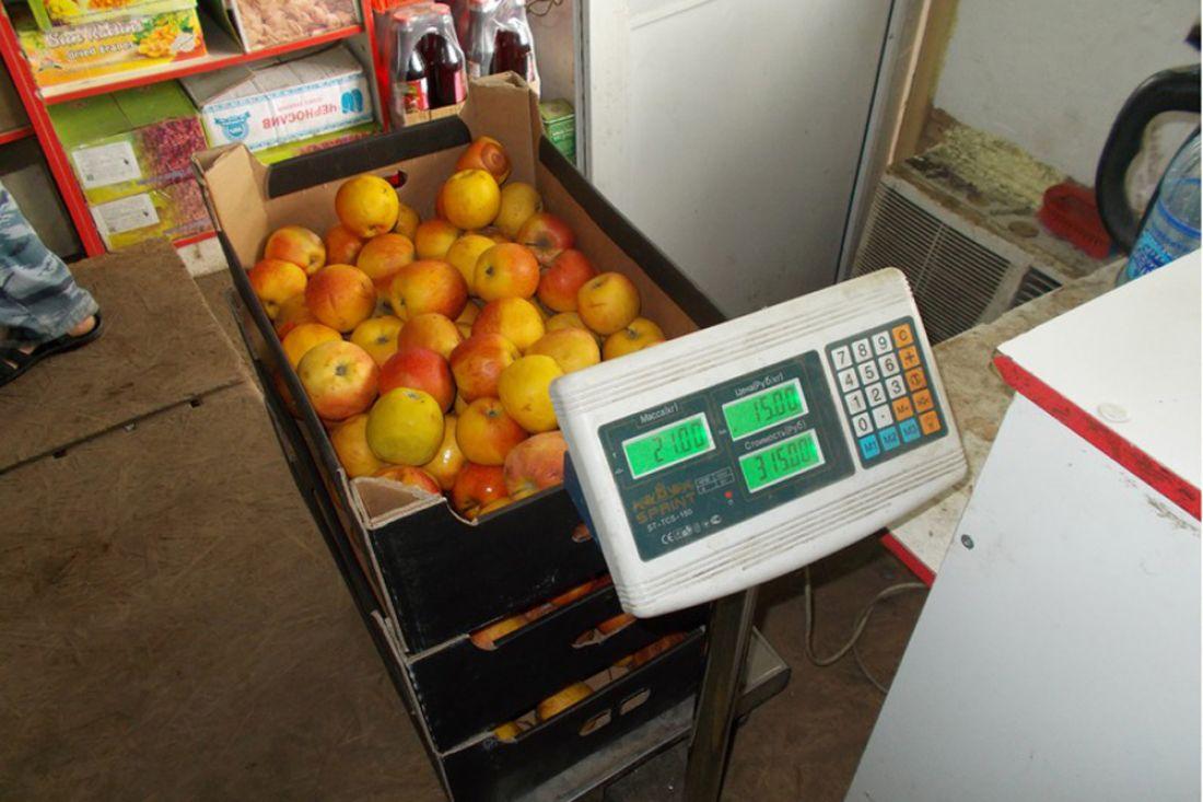 Начемодановской свалке трактор раздавил 82кг польских яблок