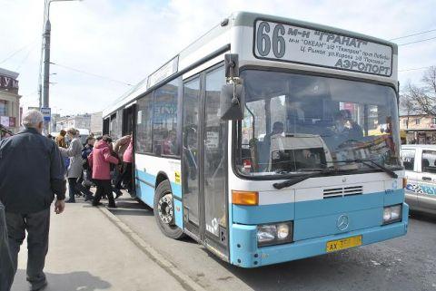 Прижимания полный автобус