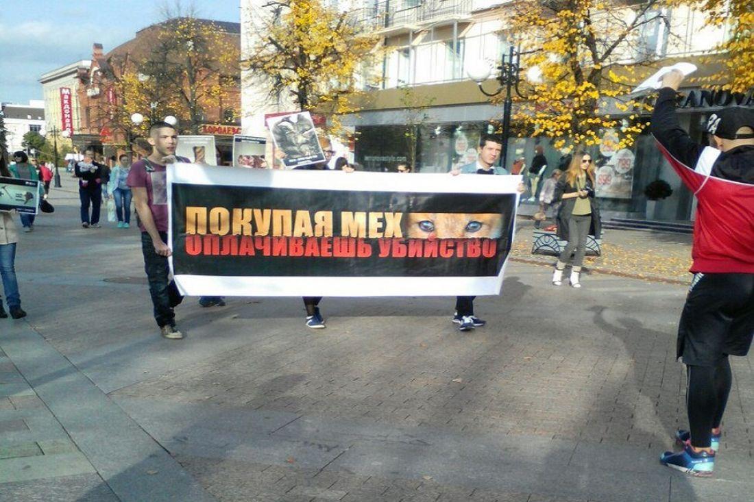 «Красота нетребует жертв»: вЕкатеринбурге прошел «Антимеховой марш»