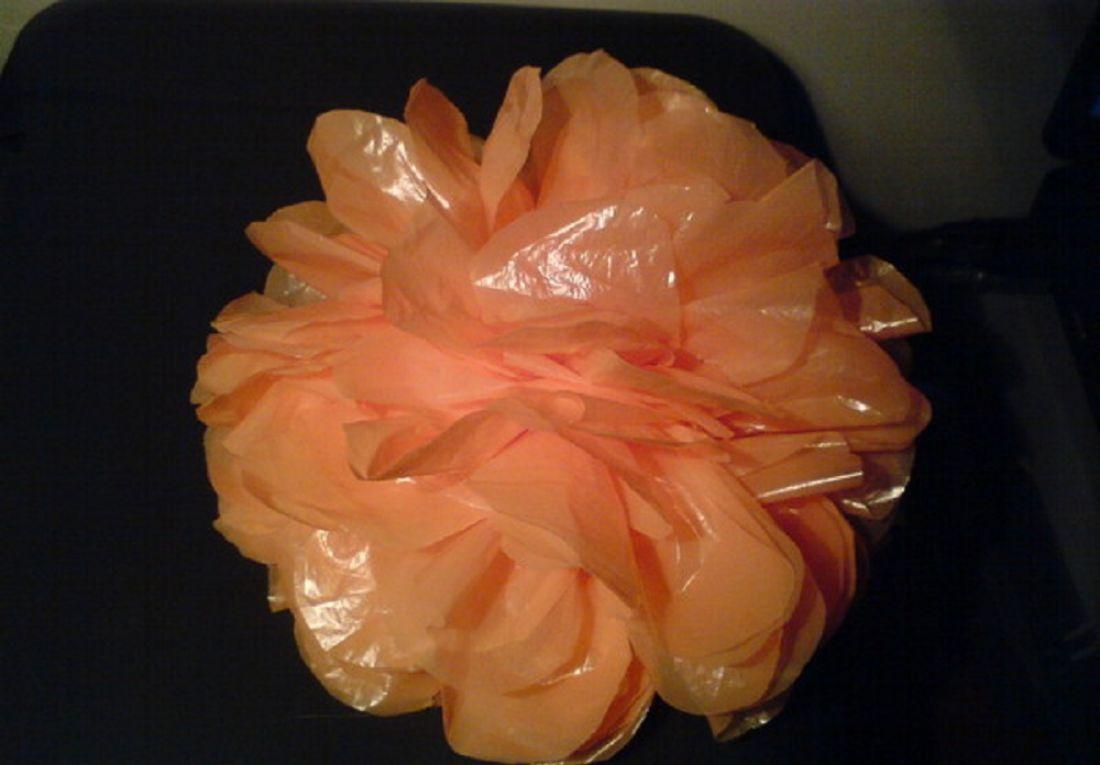 Цветы своими руками из целлофановых пакетов