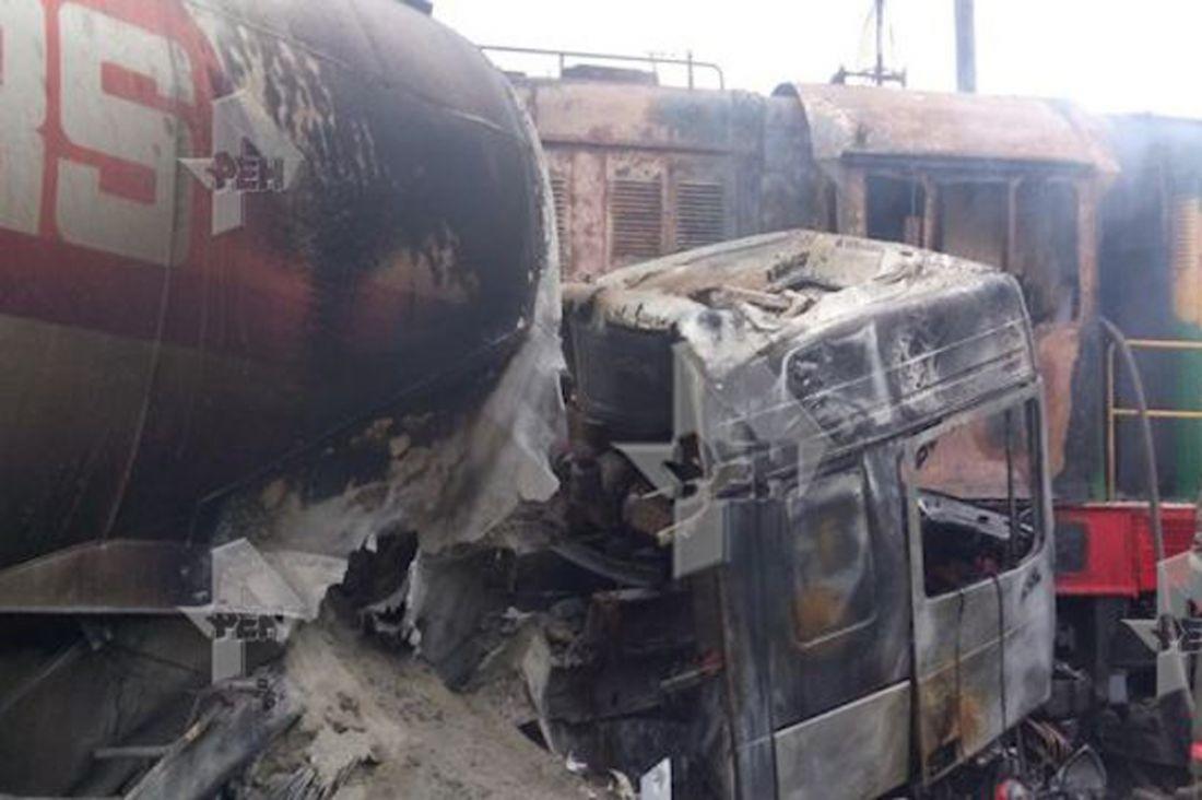 Натрассе «Тамбов— Пенза» грузовой автомобиль столкнулся степловозом, есть погибшие