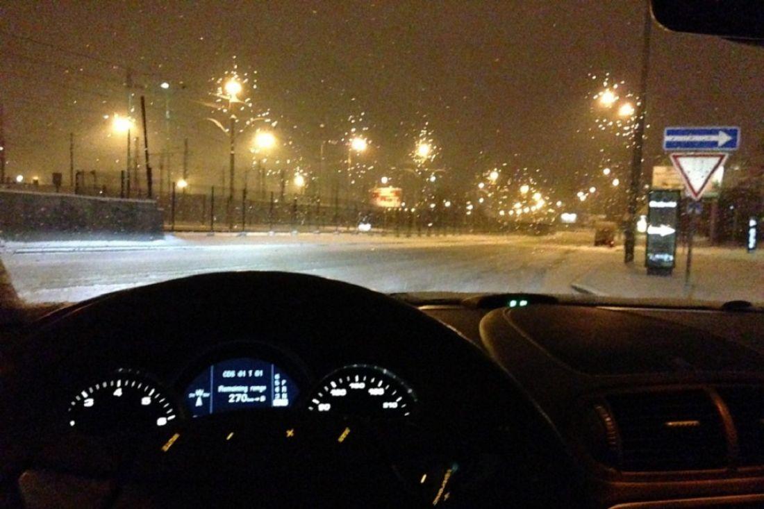 Картинки в машине ночью зимой