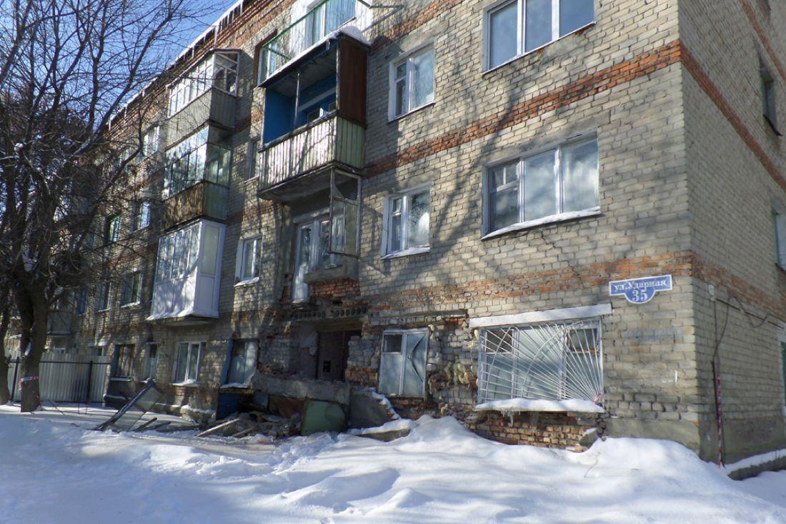 Ваварийном доме №35 наулице Ударной заложат окна