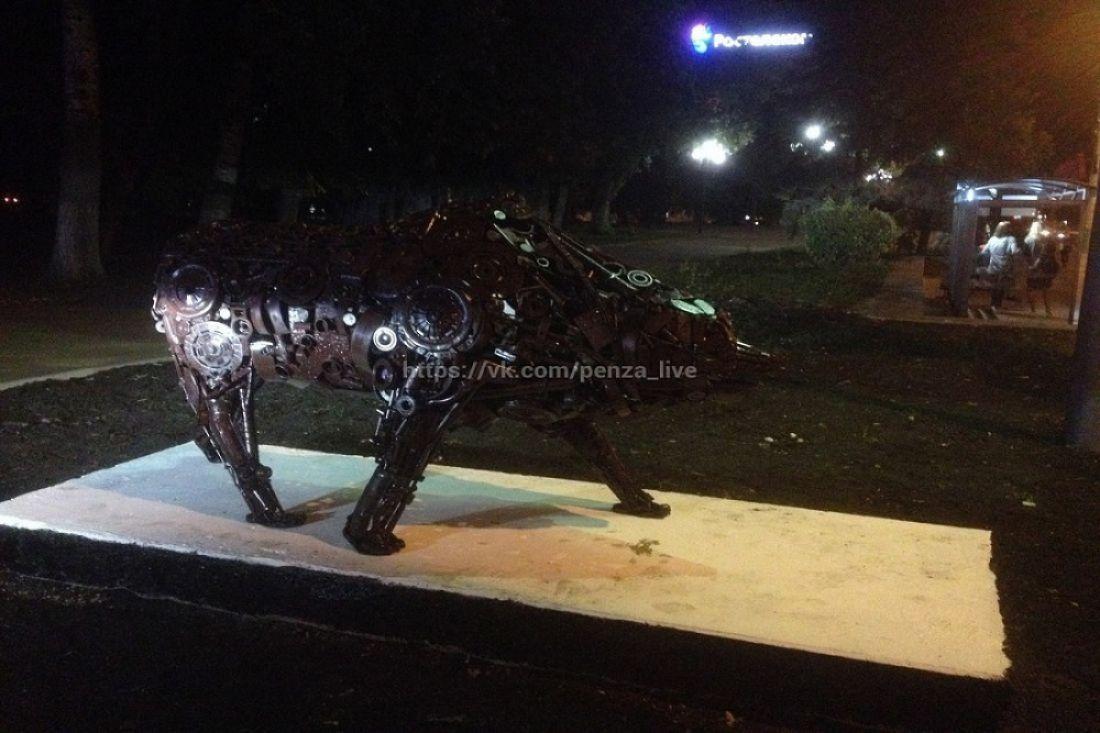 Медведя изметалла уберут изцентра Пензы