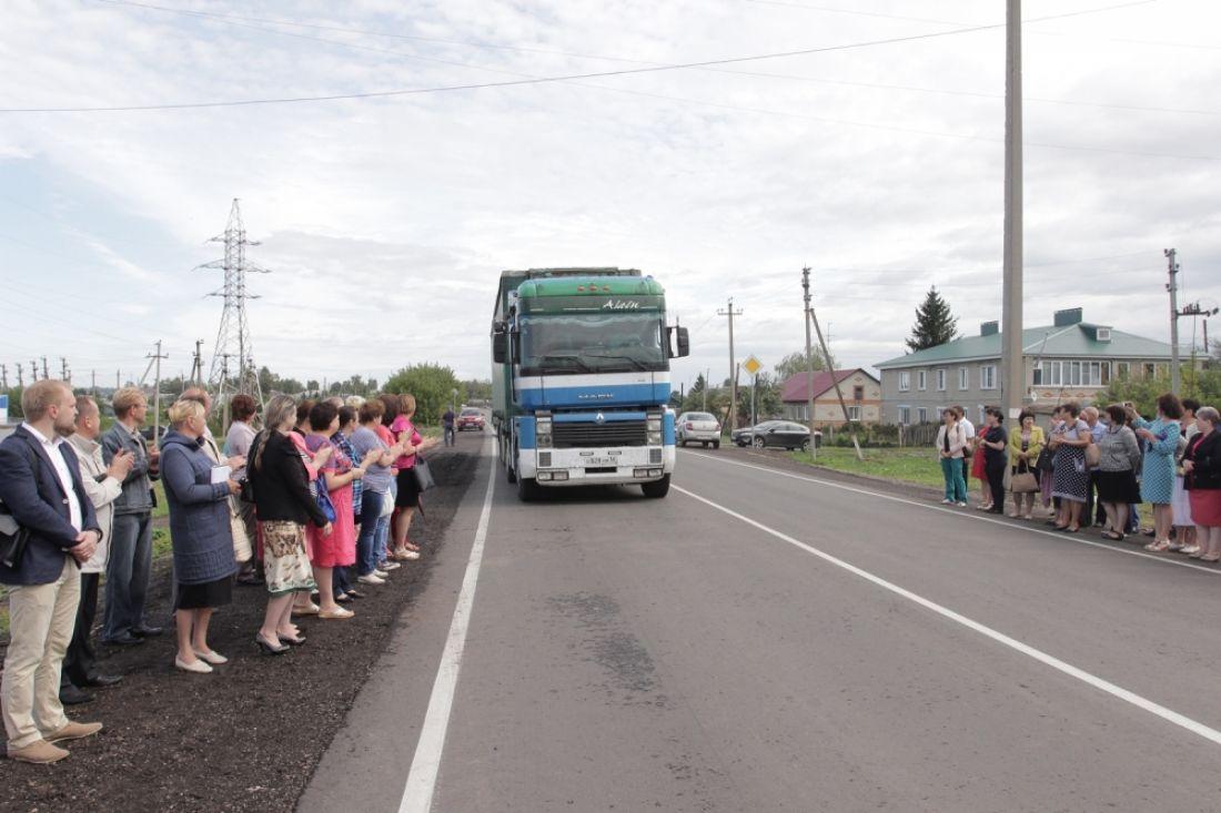 ВЛунинском районе реконструировали автодорогу длиной неменее 7,3км