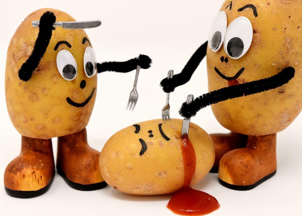 Картинка прикол картошка