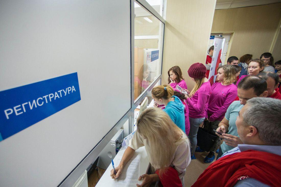 Очереди в регистратуру поликлиники