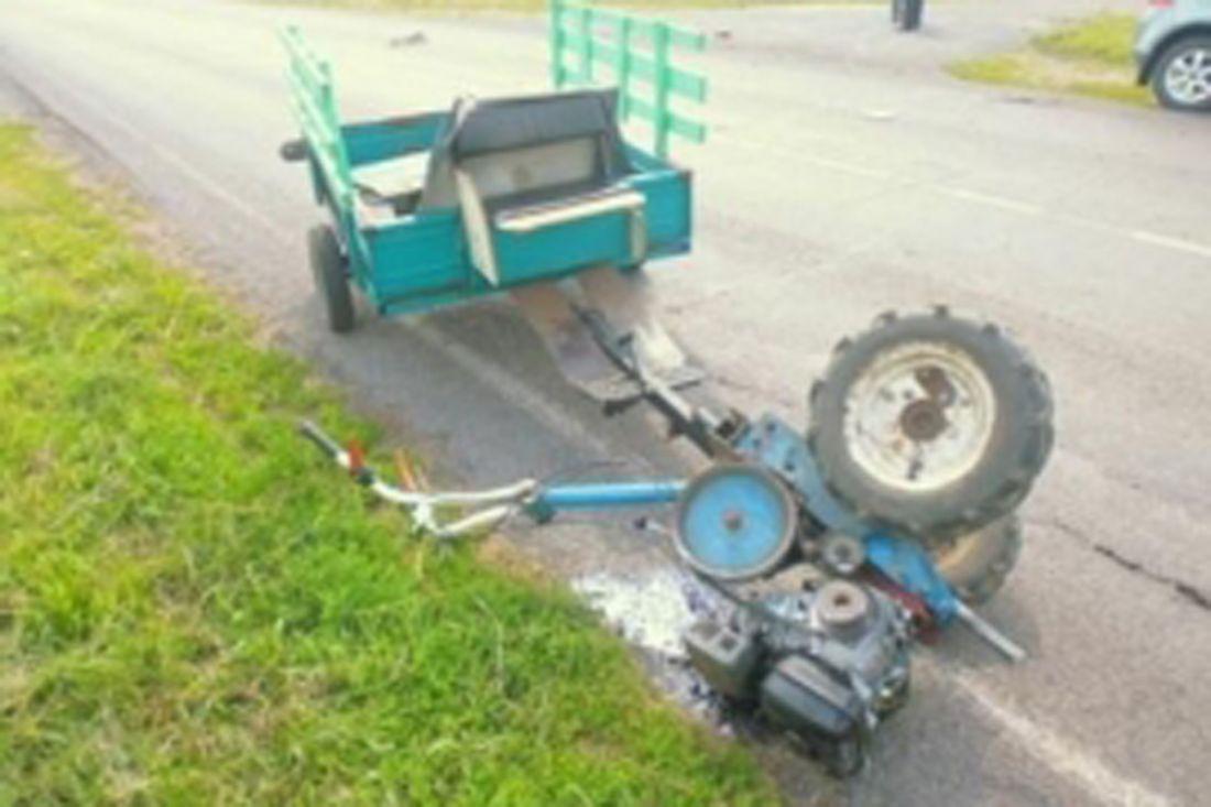 ВНижнеломовском районе иностранная машина протаранила мотоблок