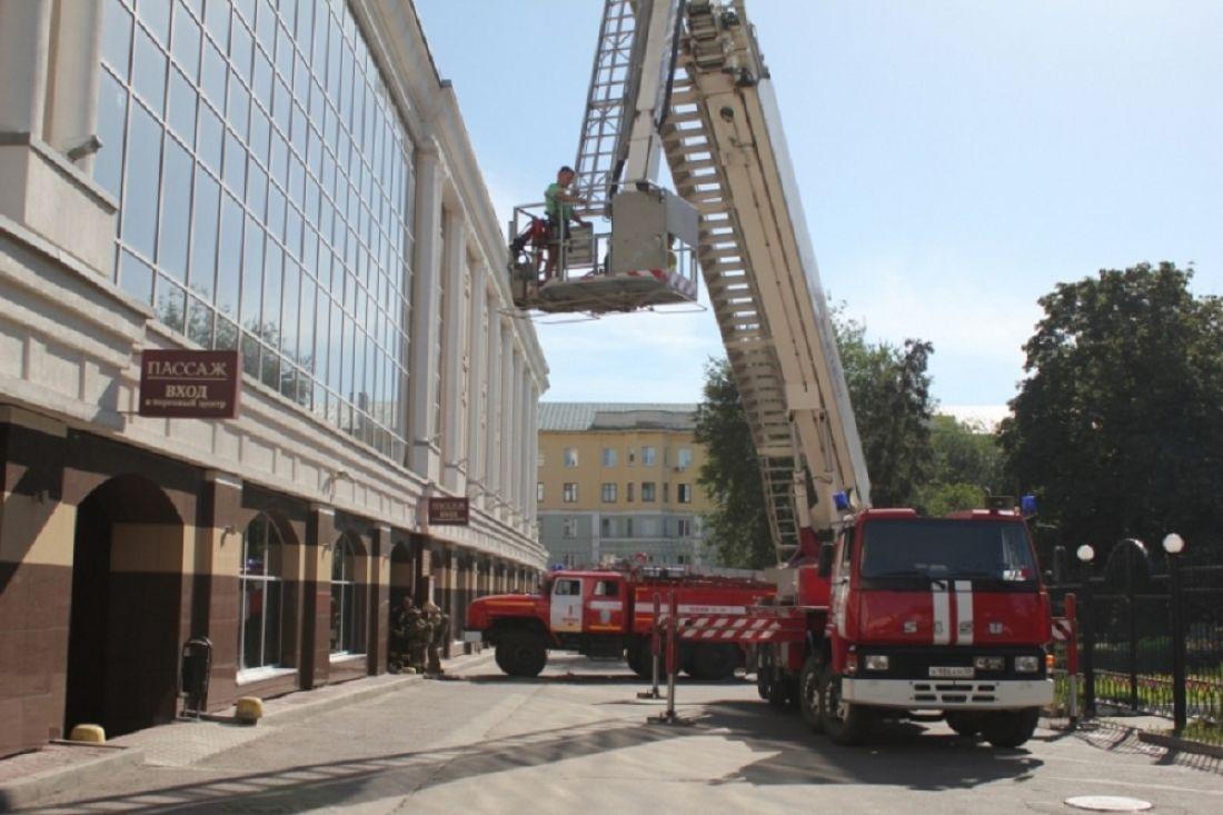 ВПензе изТЦ «Пассаж» огнеборцы вывели всех гостей иперсонал