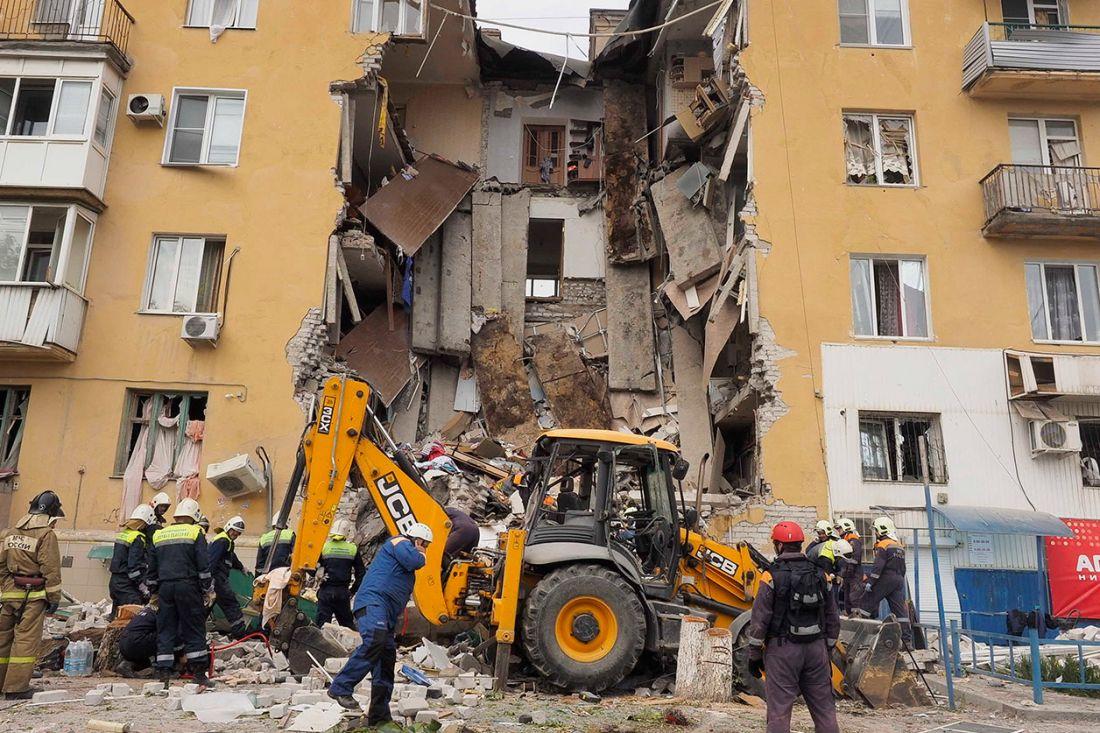 Размещено видео взрыва дома вВолгограде