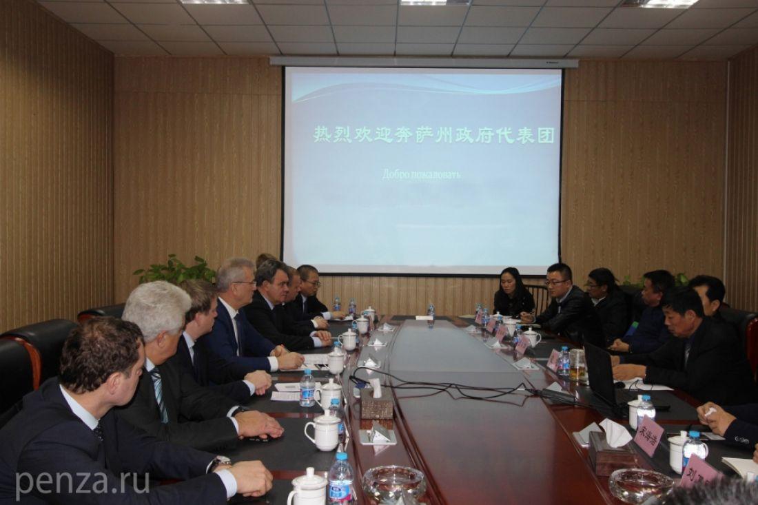 Практически 300 млн долларов будут инвестированы вПензенскую область китайскими предпринимателями