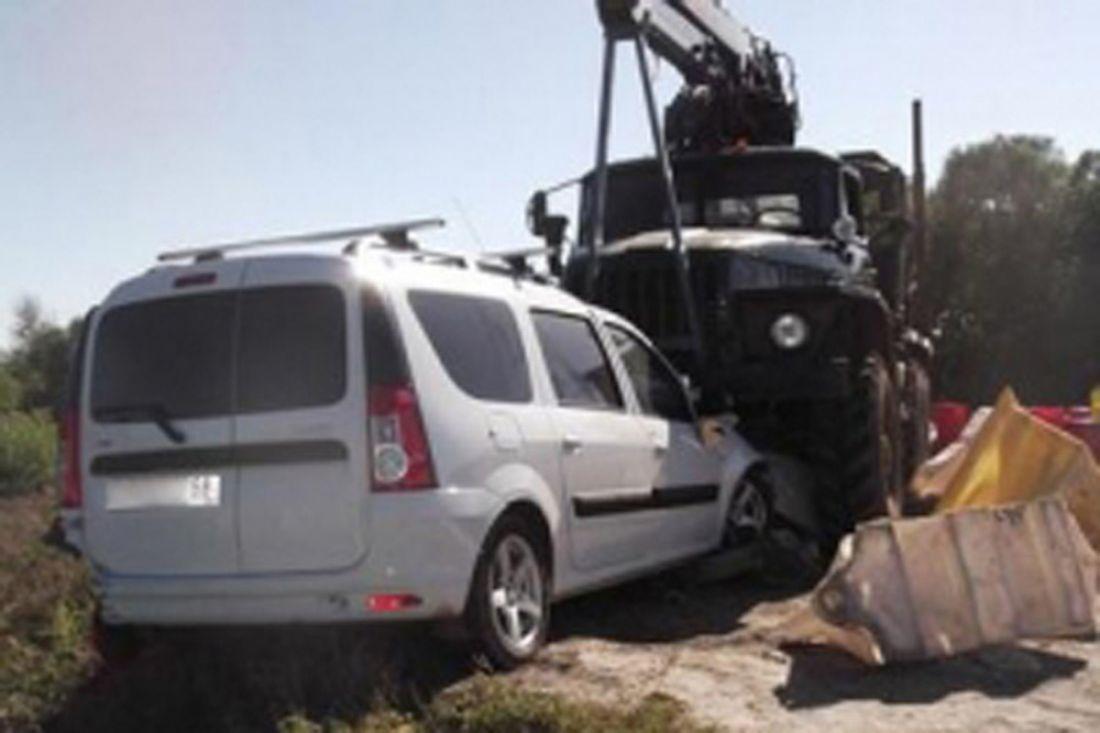 Натрассе вГородищенском районе столкнулись «Лада» иавтокран