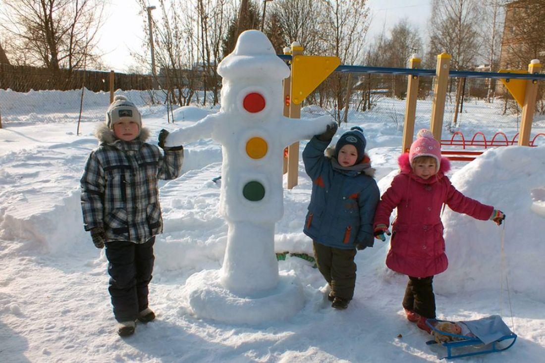 Оформление участка зимой в детском саду своими руками фото