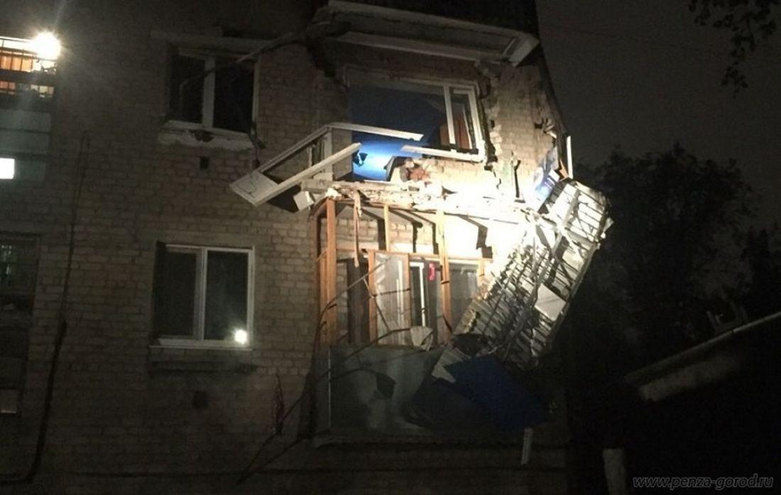 МЧС назвало возможную причину взрыва газа в жилом доме в Пензе