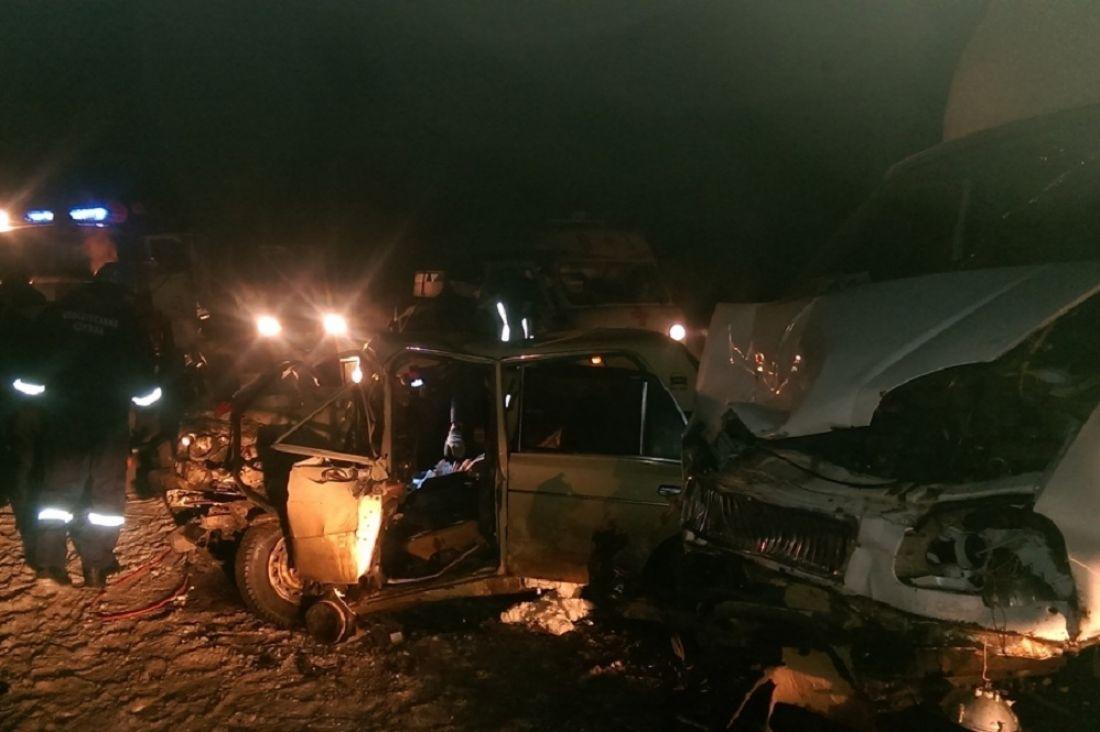 ВШемышейском районе при столкновении 3-х машин умер мужчина
