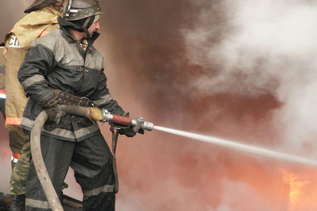 ВКузнецком районе дотла сгорел деревянный дом